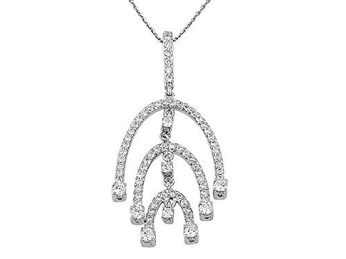 Pendentif Diamants 0.90 Carat-Femme- or Blanc 217P0004