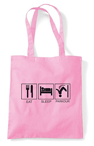 Activity Shopper Eat Hobby Pink Bag Tiles Funny Parkour Light Tote Sleep r8wXq8g