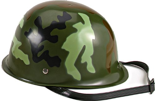 Rothco Kids Camouflage Army Helmet, Woodland Camo, O/S (Army Girl Costumes)