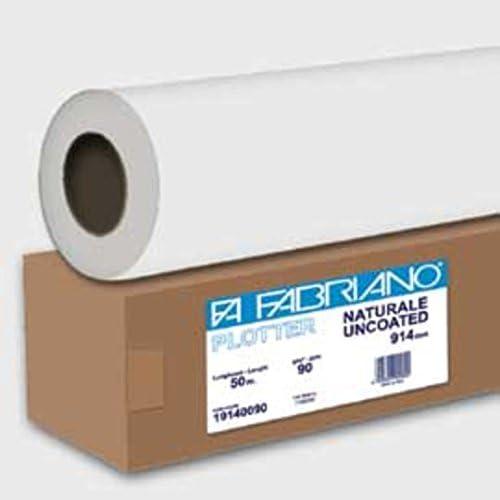 Papel de Rollo Blanca Fabriano para plotter 914 mmx50 m 90 gr ...