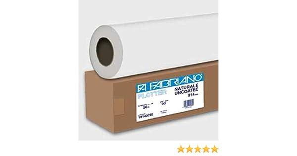Papel de Rollo Blanca Fabriano para plotter 914 mmx50 m 90 gr Inkjet [19140090]: Amazon.es: Electrónica