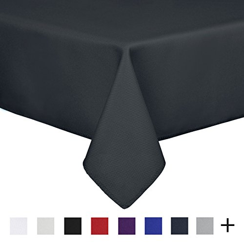 Remedios 60 x 126-inch Rectangle Polyester Tablecloth Table Cover - Wedding Restaurant Party Banquet Decoration, Dark Gray