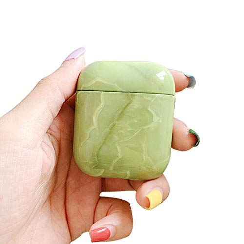 BONTOUJOUR AirPods Case,Elegant Chinese Style Fresh Leaves Porcelain Pattern Serie AirPods Case, Beautiful Hard PC Cover Protective Skin for AirPods-Color ()