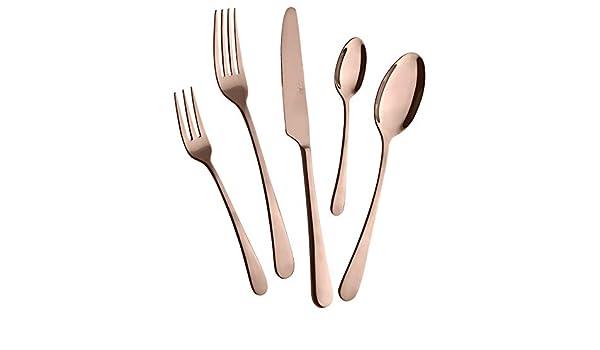 Mulex Astoria hochglanzpoliert Juego de cubiertos, Aleación de acero inoxidable de cromo 18/0 – pulido sin níquel, Cobre/elegante oro rosa: Amazon.es: Hogar