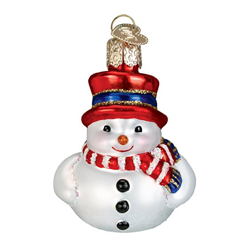Old World Christmas Mini Snowman Glass Blown Ornament