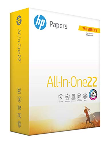 Paper Letter Multi Hp Purpose - HP Printer Paper, All In One22, 8.5 x 11 Paper, Letter Size, 22lb Paper, 96 Bright, 750 Sheets / 1 Ream (207750R) Acid Free Paper
