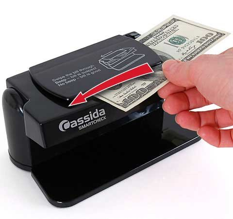 Cassida SmartCheck UV (Ultraviolet) Counterfeit Bill & ID Card Detector from ABC Office