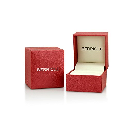 BERRICLE Rhodium Plated Sterling Silver Cubic Zirconia CZ 3-Stone Promise Engagement Ring Size 5 by BERRICLE (Image #5)