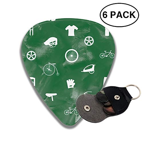 Celluloid Guitar Picks 3D Printed Cycling Icon Best Guitar Bass Gift for Lover