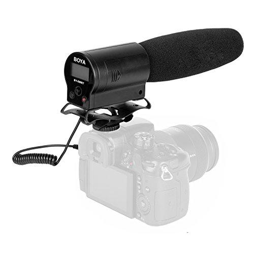 میکروفون تفنگ تصویری ، کیفیت پخش خازن فوق العاده کاردیوئید BOYA با ضبط فلش یکپارچه