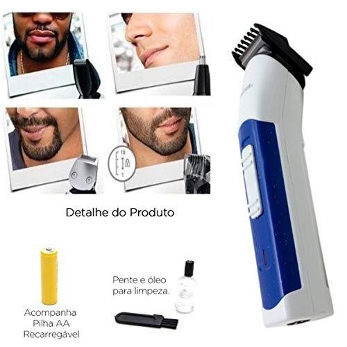 Máquina 3 In 1 Nova Cortar Cabelo Aparar Barba E Pelos Nariz   Amazon.com.br  Eletrônicos 6e2d9656f09f