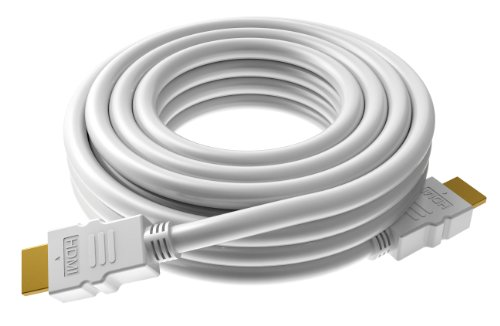 Price comparison product image VISION TECHCONNECT V2 SPARE 0.5M HDMI CABLE Flexible High-Speed White Cable with Ethernet. Compact connector. 7.3mm diam