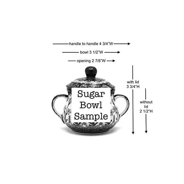 Polish Pottery Sugar Bowl – Daffodil