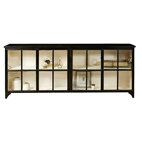 Pulaski Maura Iron Console in Black