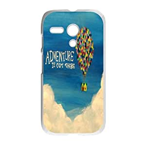 Popular And Durable Designed TPU Case with Adventure Is Out There For Motorola G Cell Phone Case White