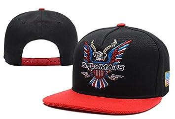 Dipset U.S.A Diplomats Eagle Logo Adjustable Black Red Snapback Cap Hat For  Men Baseball Cap b44f28e7e8f
