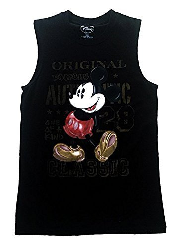 Disney Mickey Mouse Mens Shooter Tank Original 28, Black