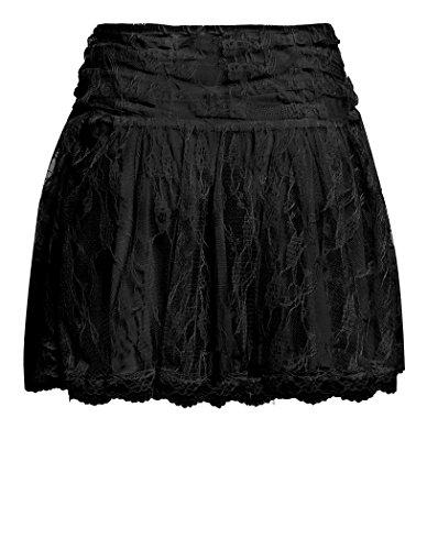nouvelles noir 14 jupe blanc Tailles 8 Noir mini SS7 lacets femmes rose SqwXSTd