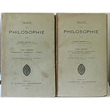 Traité de philosophie, Deux tomes (tome premier: introduction, psychologie, logique, second: morale, esthétique, métaphysique, vocabulaire philosophique)