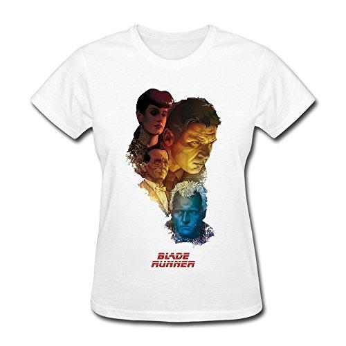 Konoyie Women's Movie Blade Runner Poster T-Shirt - Cool T-shirt White US Size XXL