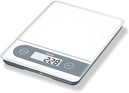 Beurer KS59 - Balanza de cocina, 20 kg/1 gr, ideal para pesar paquetes, con función memoria