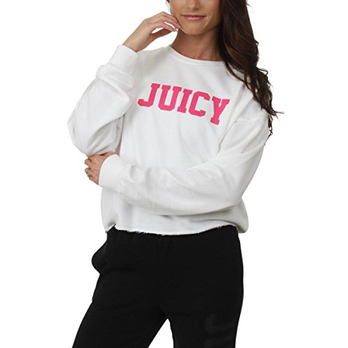 Juicy Couture Womens French Terry Logo Sweatshirt White S ()