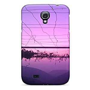Anti-scratch And Shatterproof Purple Sky Phone Case For Galaxy S4/ High Quality Tpu Case by icecream design