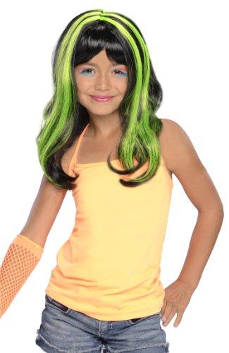 [Green Neon Streaks Wig] (Neon Green Wigs)
