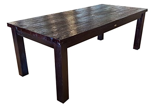 "Dining table, 87"" Solid Rustic Teak Made By Chic Teak"