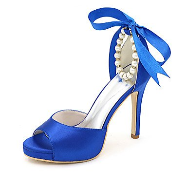 Women'S Sandals Dress Sandals Summer Spring Party Fall amp;Amp; Shoes Evening Blue Wedding Satin rqPXrY