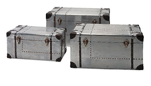 IMAX 74408-3 Brewer Aluminum Trunks, Set of 3 by Imax