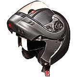 Studds Ninja 3G Full Face Helmet with Double Visor (Gun Grey, XL)