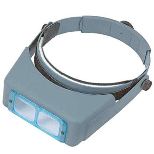 - OptiVisor Binocular Headband Magnifier with 2.75X Magnifiaction