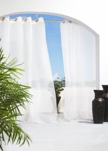 (Escape voile semi sheer grommet top panels)