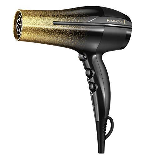 Remington Titanium Fast Dry Hair Dryer with Ionic and Ceramic Technology, Black & Gold Glitter, D5951