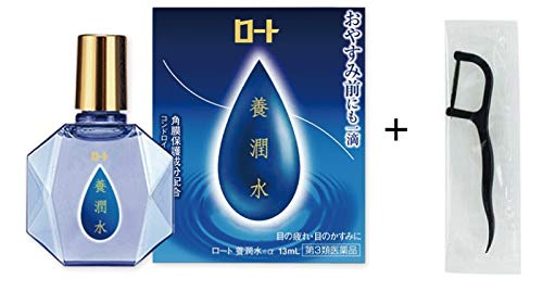 [Japan Limited Item] Rohto Yo-Junsui α 13ml with Original Black Dental Floss