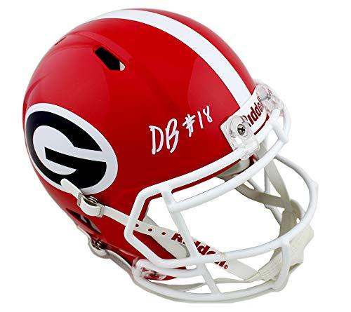 DeAndre Baker Autographed/Signed Georgia Bulldogs Schutt NCAA Full Size Speed Helmet
