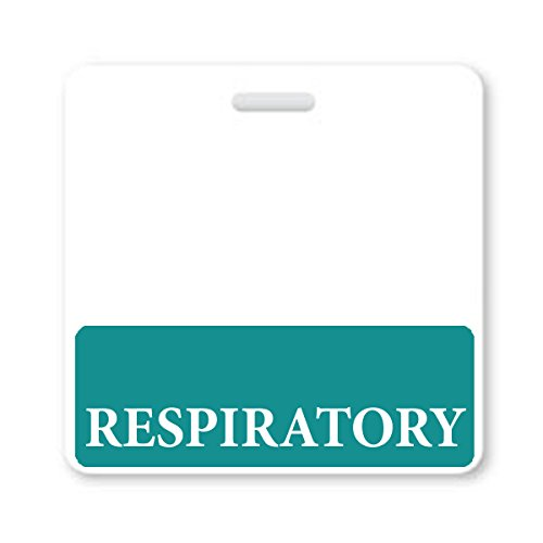 Respiratory Horizontal Badge Buddy with Teal Border by Specialist ID, 10 Pack Photo #2
