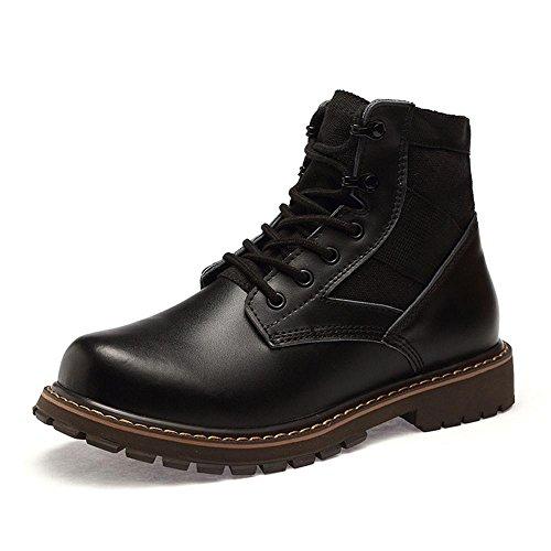Idée Cadres Hommes Cheville Tactique Bottes Mode Sneakers Noir