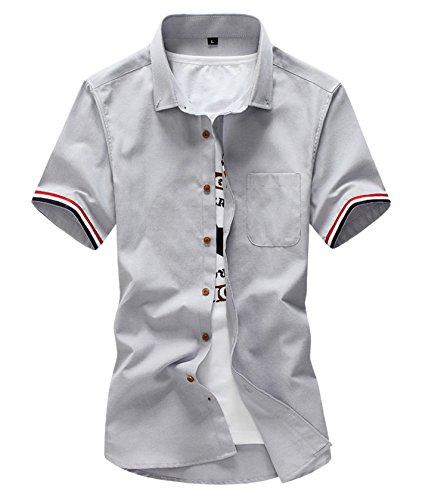 インスタント包帯キリンjiajia(ジア ジア) シャツ メンズ トップス 半袖 カジュアルシャツ Yシャツポケット シンプル スタイル 春 夏