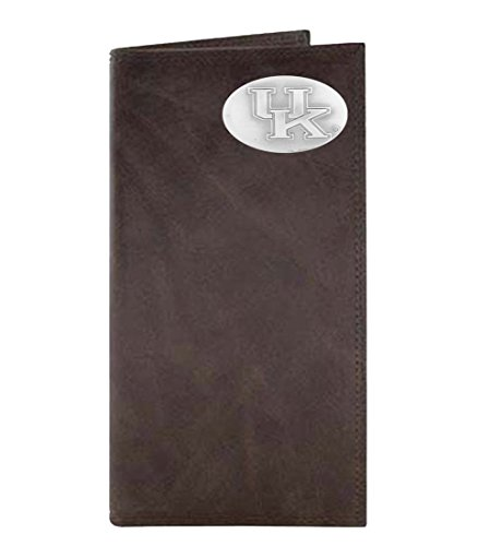 NCAA Kentucky Wildcats Brown Wrinkle Leather Roper Wallet Kentucky Wildcats Player