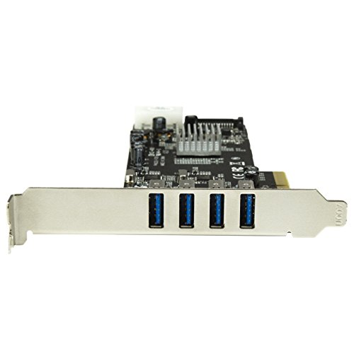 StarTech.com 4 Port PCI Express (PCIe) SuperSpeed USB 3.0 Card Adapter w/ 4 Dedicated 5Gbps Channels - UASP - SATA / LP4 Power
