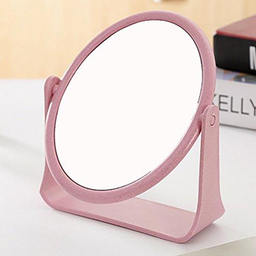 Aodew Square Round Makeup Mirror 2 Sides Desktop 360 Degree Rotating
