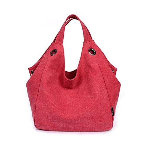 Baonmy - Bolso mochila de Lona para mujer Red