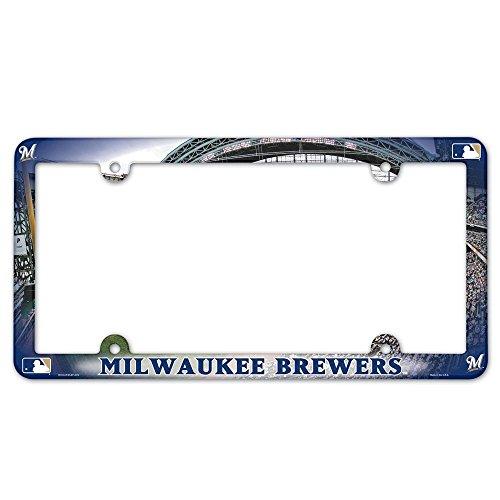 MLB Milwaukee Brewers Field Plastic License Plate Frame (Mlb Milwaukee Car Brewers)
