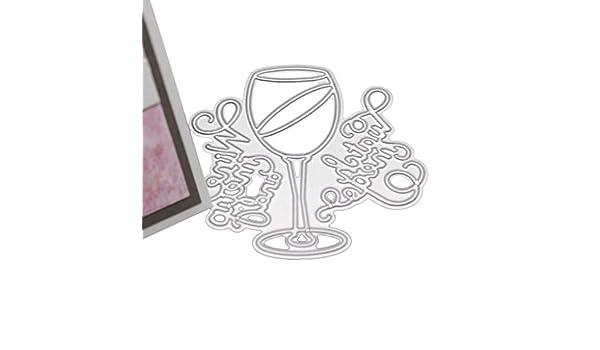 graphic about Free Printable Wine Glass Stencils called : Dayloveme Metallic Slicing Dies, Wine Gl Stencil
