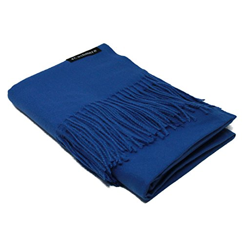 - Royal Blue 100% Cashmere Scarf - Gift Box, Large Size, Removable Tag, Limited Availability