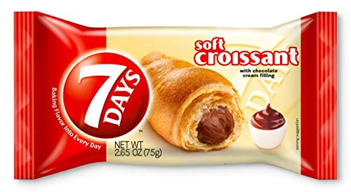 7Days Soft Croissant, Creamy Chocolate Filling | Perfect Breakfast OR Snack | GMO-Free | (Pack of 24)