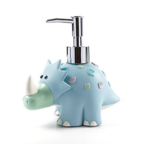 Dispenser Accessory Soap Bath - Cute animal cartoon dinosaur resin SPA Collection Liquid Soap dispenser, Lotion Dispenser pump Bath Accessory Soap Dispenser Pump The lotion can not too sticky or thick,add water or can not pumped out