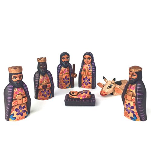 Altiplano Small Hand Carved Nativity Set Fair Trade Guatemala